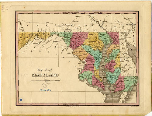 1829 - Maryland - Mapping Maryland\'s Counties - Enoch Pratt ...