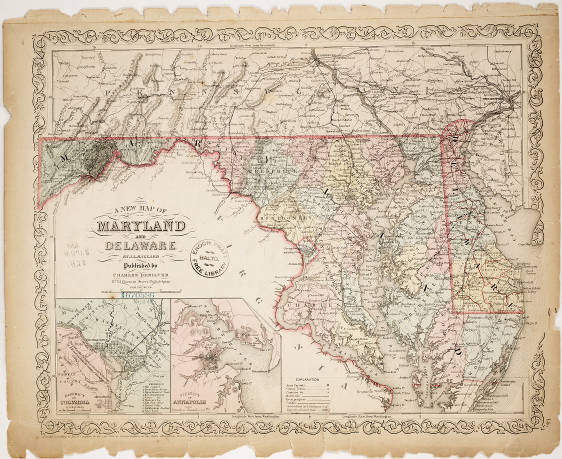 1856 - A new map of Maryland and Delaware - Mapping Maryland\'s ...