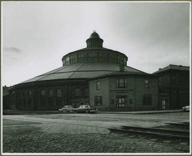 Roundhouse (passenger car shop) at the Baltimore and Ohio